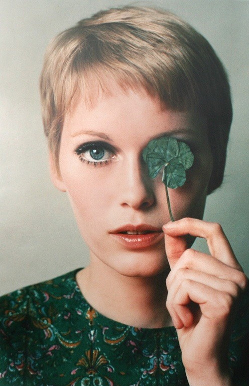 Mia Farrow Short Pixie Haircut