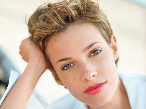 Wavy Short Hair Women Pixie