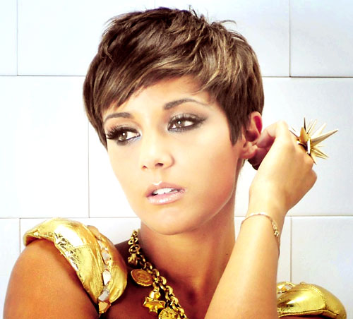 Frankie Sandford Short Pixie Haircut