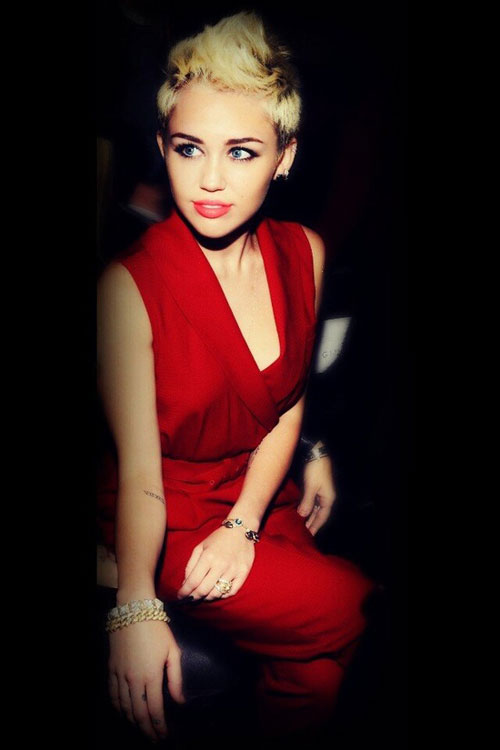 Miley Cyrus Pixie Haircut 2015