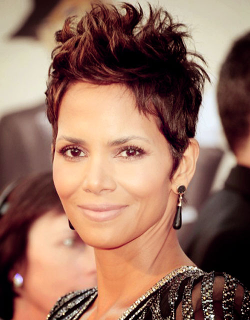 Halle Berry Short Hair 2014