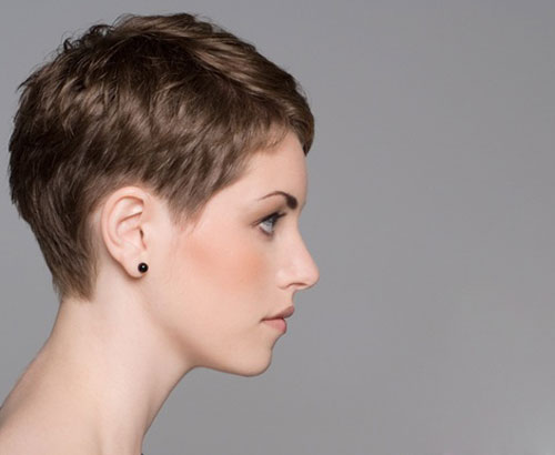 Short Pixie Haircut Side View