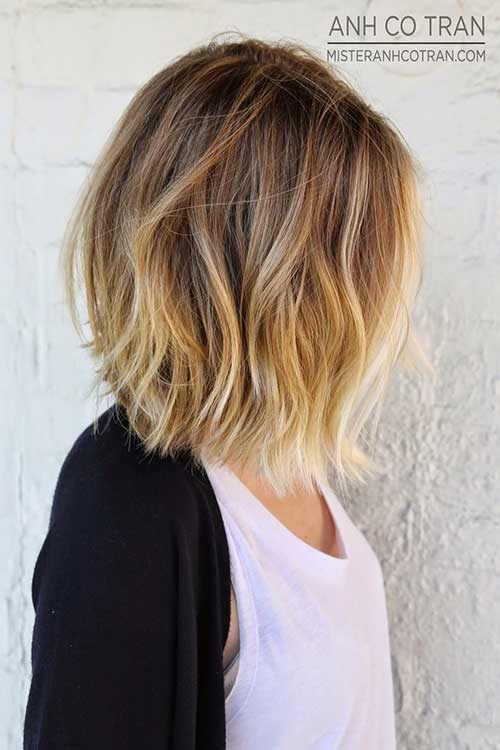 bang braid hairstyles : Blonde Ombre Short Hairstyles Haircuts
