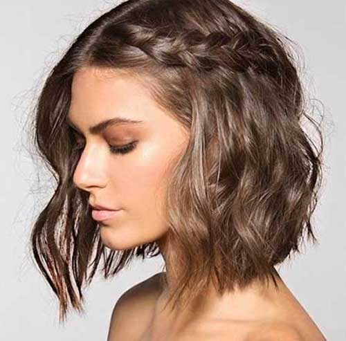 Braiding Short Hair For Waves Braid For Short Wavy Hair