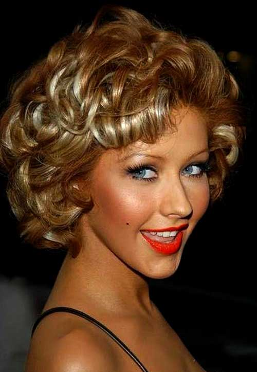 Curly Short Hairstyles for Christmas Party