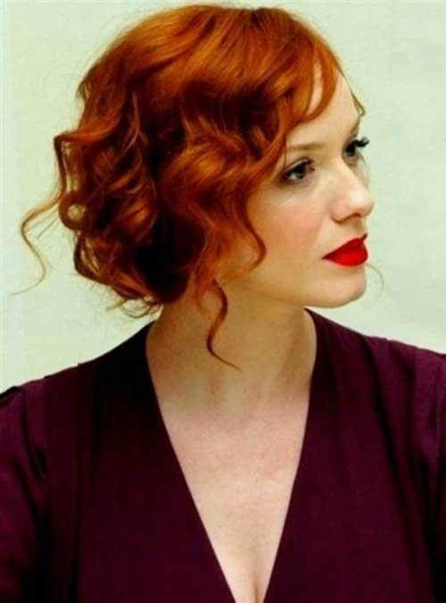 Cute Curly Party Hairstyles for Short Hair