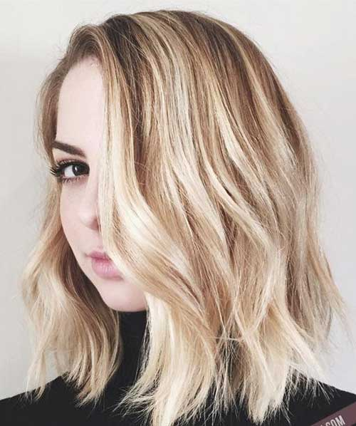 Blonde Fine Hair with Waves