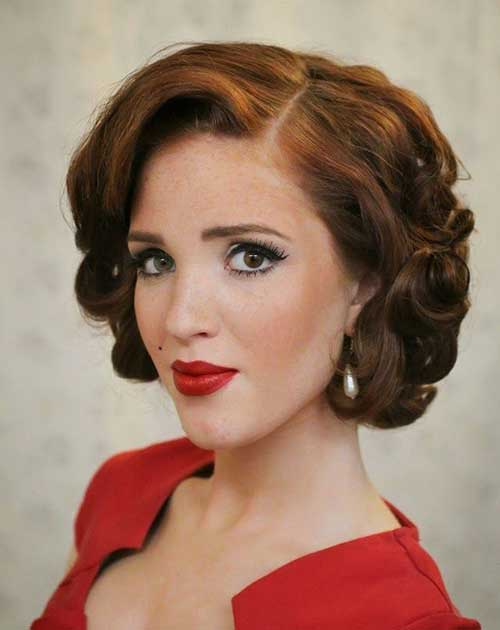 Pin Curls Short Party Hairstyles