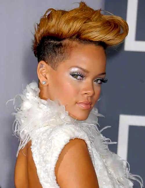 Rihanna Christmas Party Short Hairstyles
