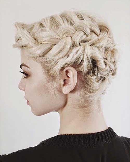 Short Braided Hairstyles for Christmas Party