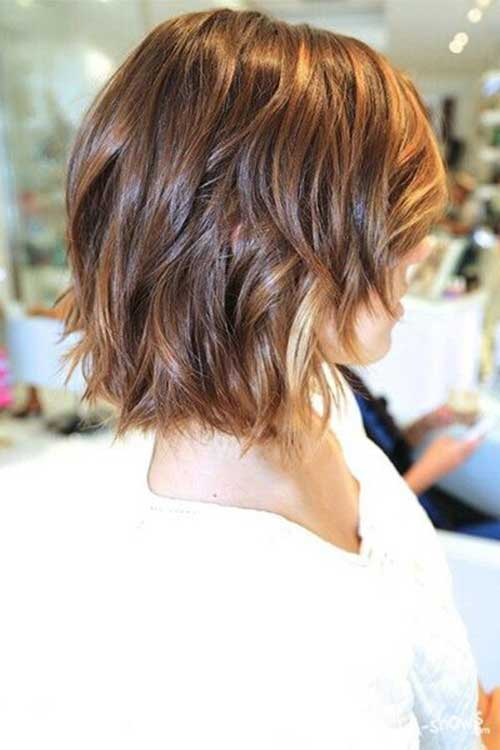 Short Shinny Ombre Hair with Waves
