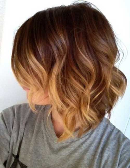 Ombre And Beach Waves For Short Hair