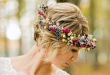 20 Wedding Hairstyle for Short Hair-3
