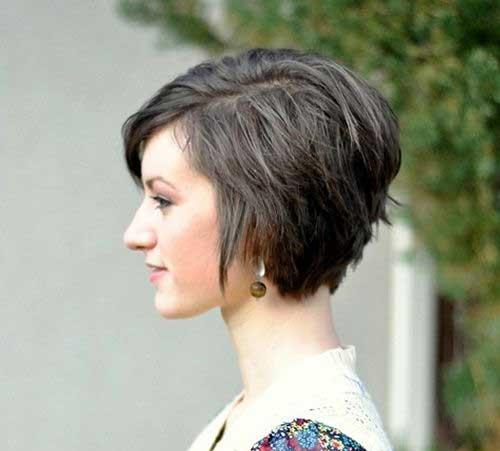 Dark Asymmetrical Short Haircuts