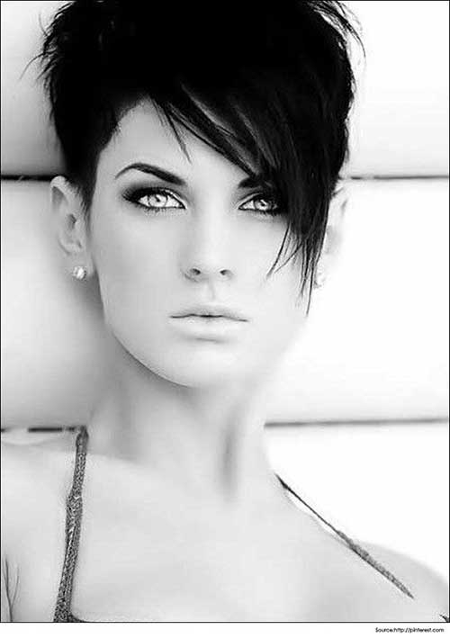 Charming Short Hairstyles with Long Bangs