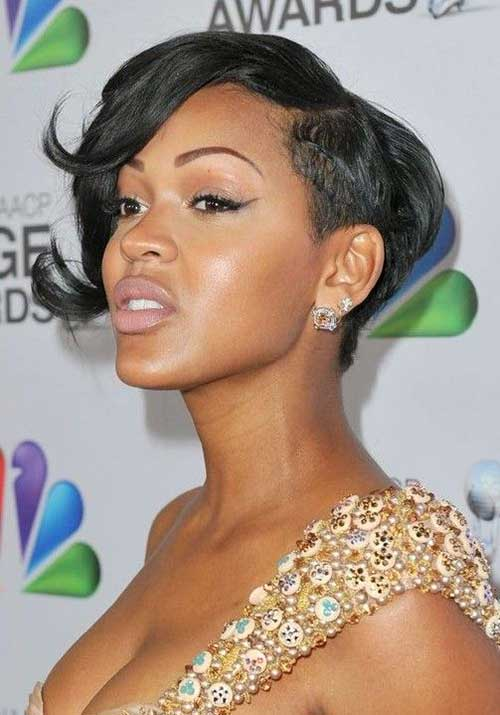 18. Short Natural Black Pixie Hairstyle for African and American Girls