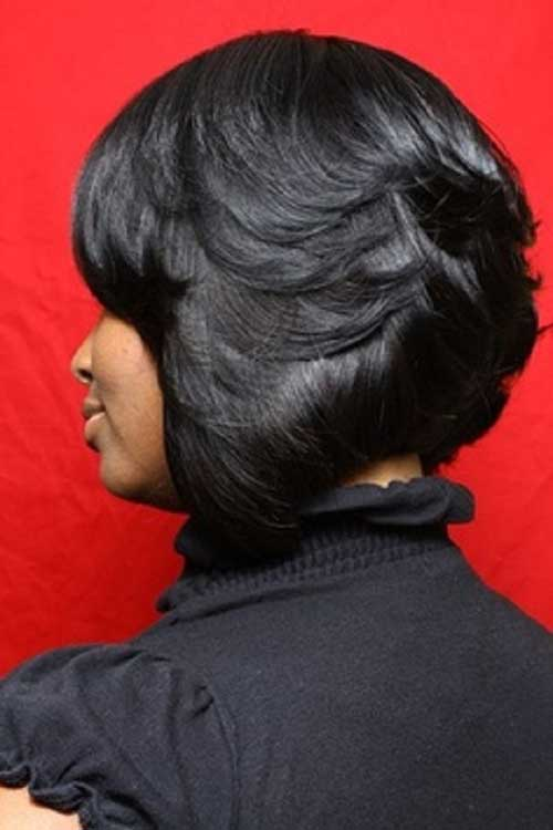 Layered Feathered Bob Hairstyles Black Women