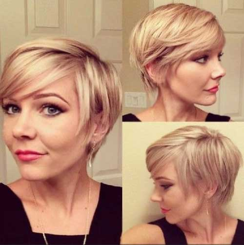Layerd Short Pixie Haircut