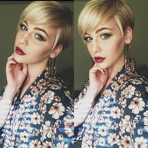 Trendy Long Pixie Hair Cut
