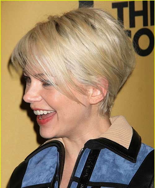 Michelle Williams Broadway Pixie Haircut