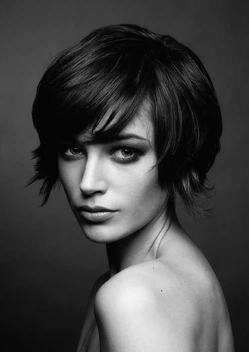 Longer Pixie Cut with Bangs Hairstyles
