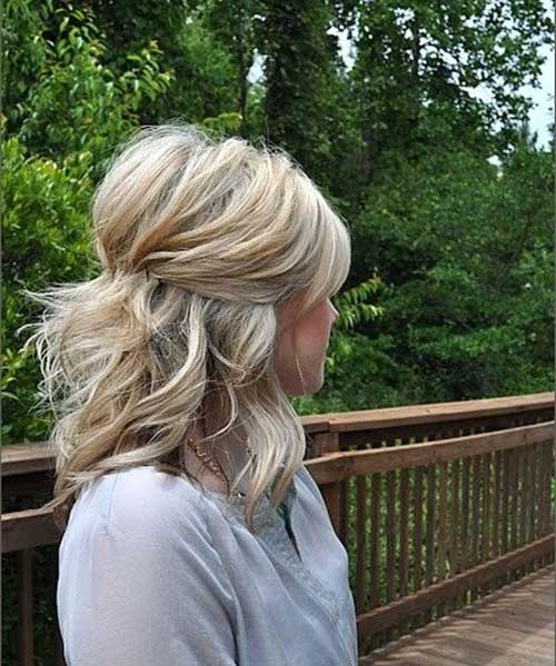 Half up Half Down Blonde Hairstyles Half up Half Down Thick Blonde