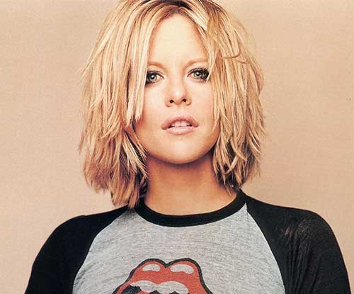 Meg Ryan Choppy Blonde Hair