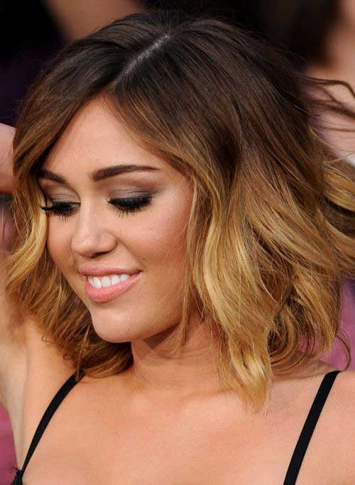 Long Bob With Side Bangs Ombre Bob With Side Bangs Ombre