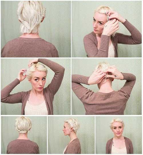 Cute Basic Updo for Short Fine Hair