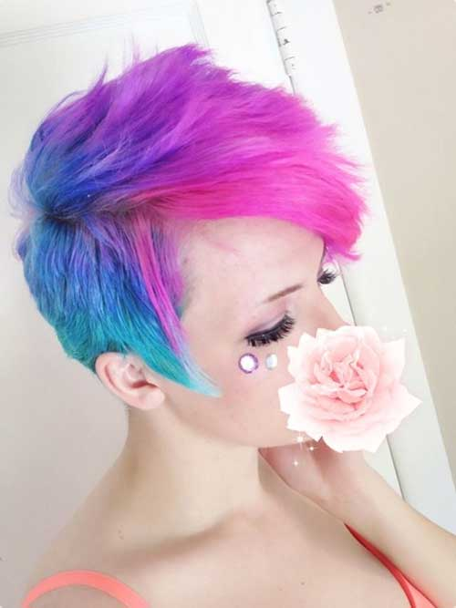 Pink and Blue Short Hair