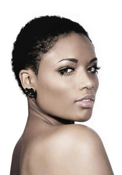 Curly Big Chop Black Women