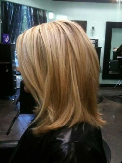 Short Inverted Bob With Highlights And Lowlights | Short Hairstyle ...