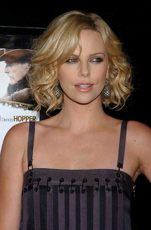 Charlize Theron Hair with Curly Ends