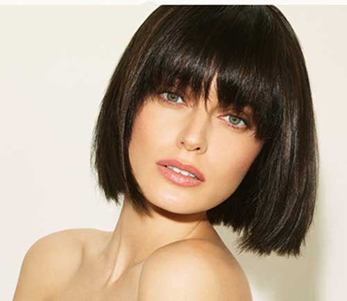 Chin Length Straight Hair with Bangs