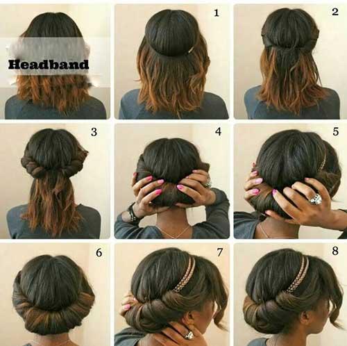 Gorgeous Headband Hair Tuck Idea