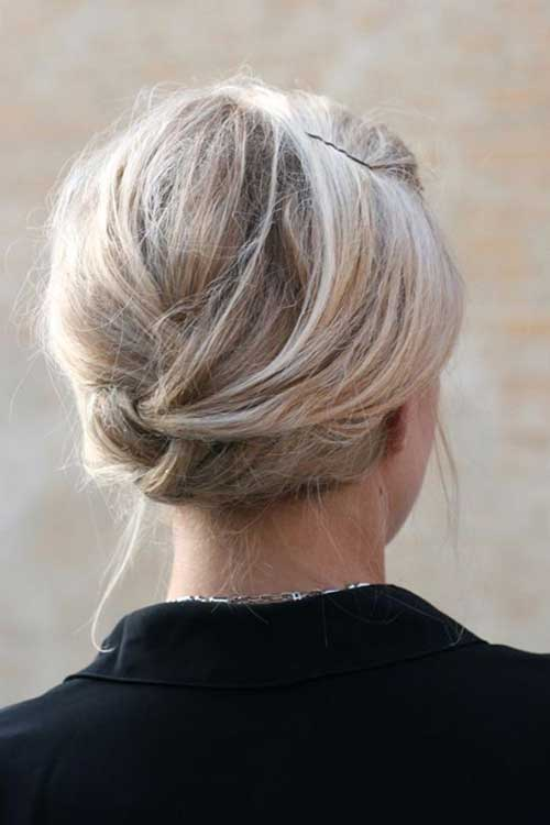 Low Simple Buns for French Girl