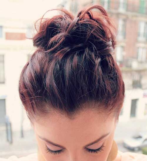 Messy Buns for Prom Short Hair Updo