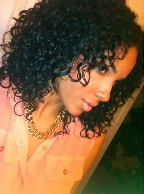 Naturally Curly Cute Short Black Hairstyles