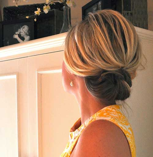 Pretty Pinned Updos for Short Hair