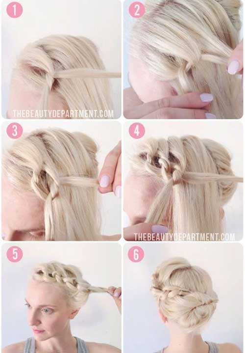 Quick Pretty Updos for Short Hair