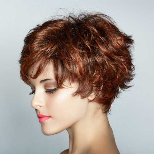 Red Curly Pixie Color Trend 2015
