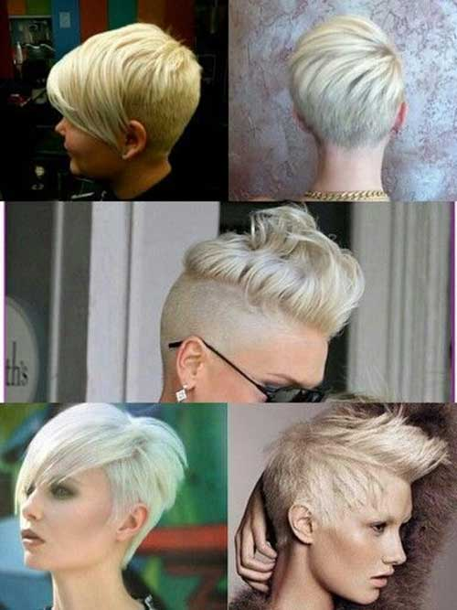 Short Pixie Haircuts With Shaved Back