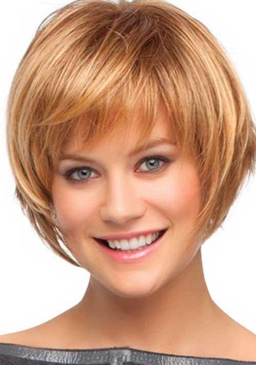 Cute Short Bang Layered Bob Trendy Hairstyles