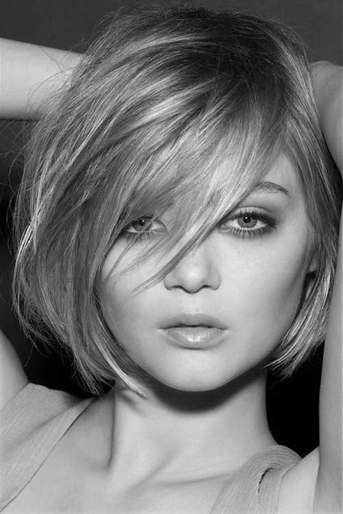 Thick Short Bob Hairstyles with Bangs