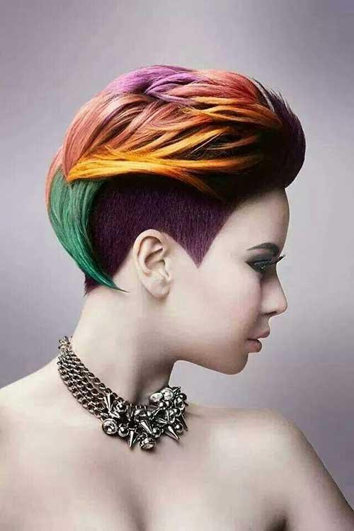 Colorful Short Hair Colour Ideas