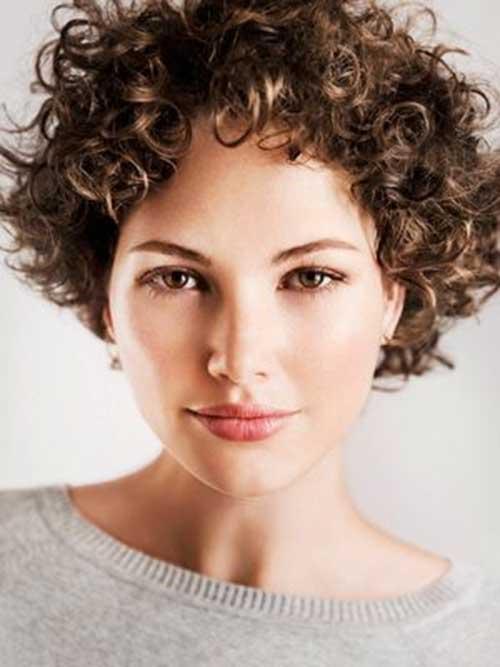 Stylish Short Hair Ringlet Curls