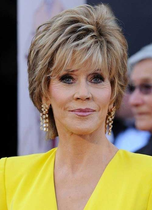 Short Hairstyles for Round Face Older Women