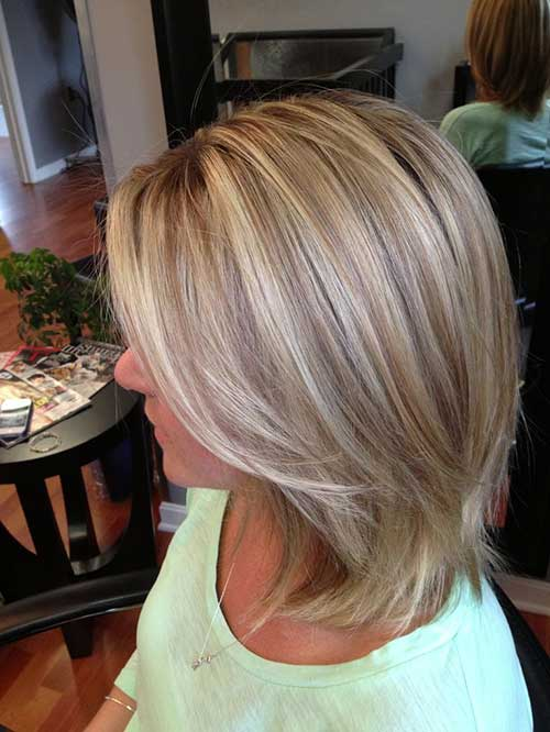 Short Hair Blonde Highlights  The Best Short Hairstyles For Women 2016