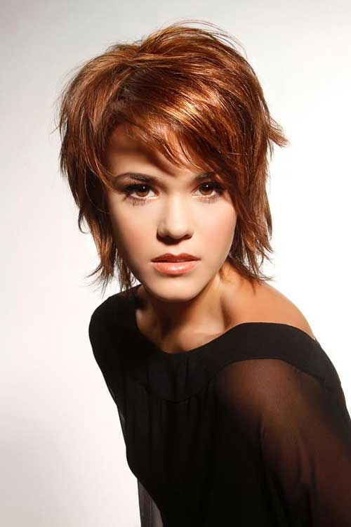 Lovely Side Bangs and Layers for Thin Fine Hair