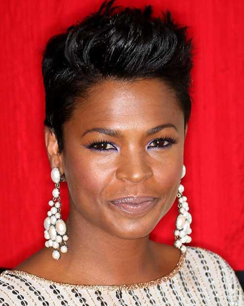 Sleek Fauxhawk Hair Cuts for Black Women